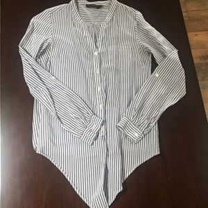 The Limited striped tie-front shirt